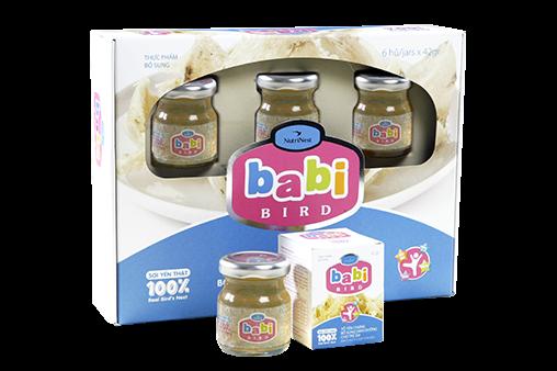Nước yến dành cho trẻ em Babi Bird Hộp quà 6 lọ 42gr  - Nutri