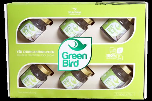 Nước Yến Green Bird hộp quà 6 lọ 75gr – Nutri