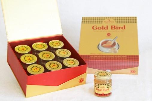 NutriNest - Gold Bird Súp Yến Nguyên Tổ  Chưng Đường Phèn Hộp Qùa 9 Lọ 190g