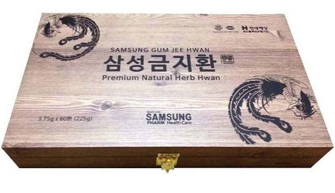 An Cung Ngưu Hoàng Hoàn Hộp gỗ 60 viên 225g - Samsung Gum Jee Hwan