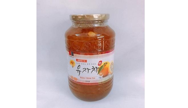 Chanh Đào Ngâm Mật Ong rừng Hàn Quốc lọ 1kg