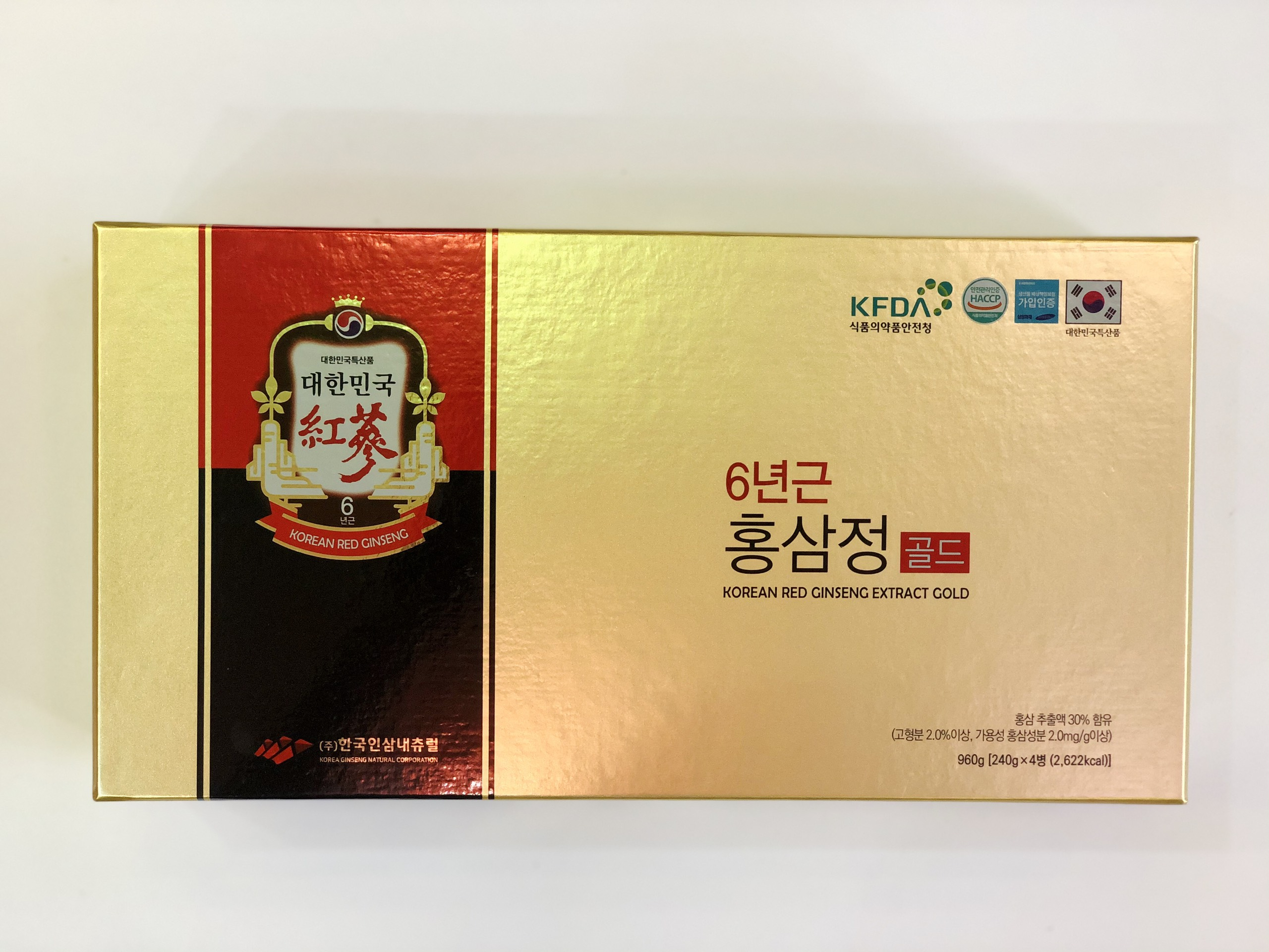 Cao hồng sâm Red Ginseng Extract Gold 4 lọ - Nutri