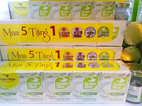 Nước Yến Green Bird chưng đường ăn kiêng - mua 5 tặng 1 hũ 75gr