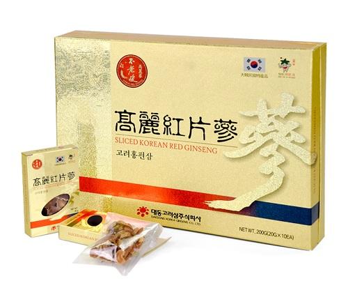 Hồng Sâm củ khô thái lát Daedong Sliced Korean Red Ginseng