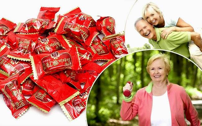 Kẹo hồng sâm Vitamin Hàn Quốc 200g – Nutri
