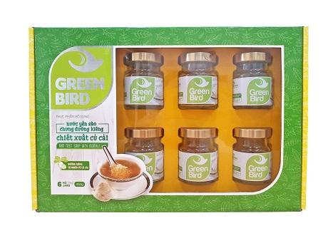 Nước Yến Green Bird chưng đường ăn kiêng hộp quà 6 hũ 75gr - Nutri