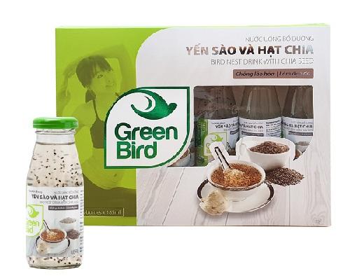 Nước Yến Sào Và Hạt Chia Green Bird – Hộp quà 6 chai 185ml