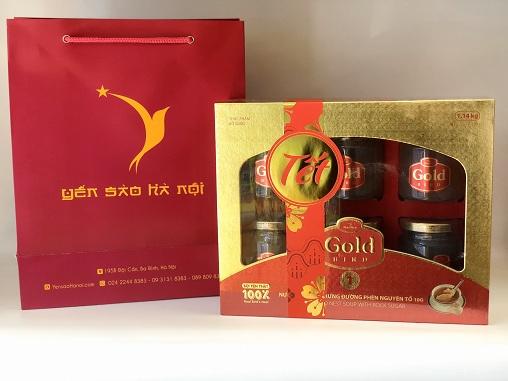 Quà tặng Tết Súp Yến nguyên tổ Gold Bird hộp quà 6 lọ 190gr